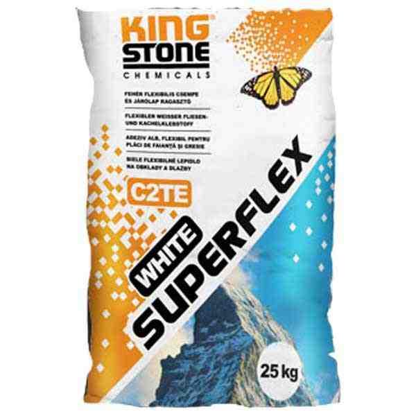 Kingstone White Superflex C2TE flexibilis csempe és járólap ragasztó